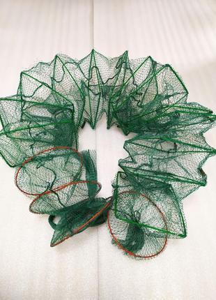 Раколовка Верша гофра корд рыболовный 3.5 м ячейка 1 см