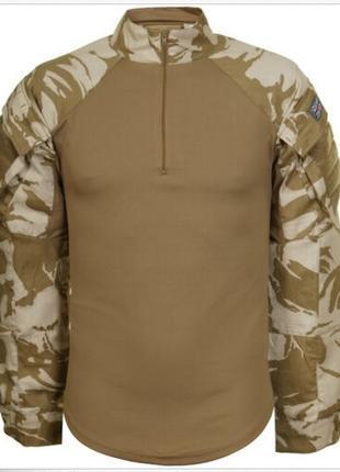 Оригинальная рубашка/футболка UBACS армии Великобритании камуфляж