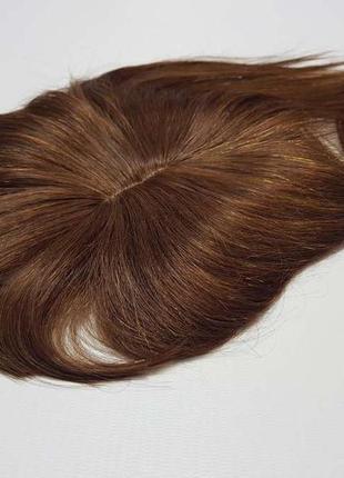 Накладка на волосы, из натуральных волос, парик, шатенка, в уп...
