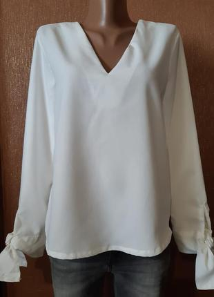 Блузка с завязками,красивой спинкой  размер 8 boohoo