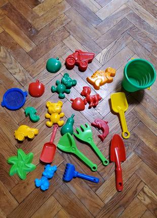 Игрушки для песочницы, пасочки, формочки, совочки, грабельки