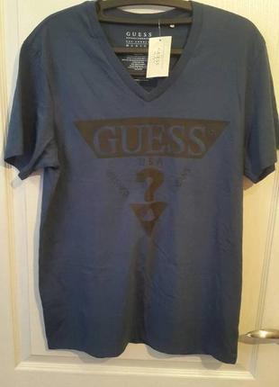 Темно-синяя футболка guess оригинал сша