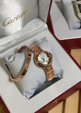 Фирменный женский набор часы и браслет