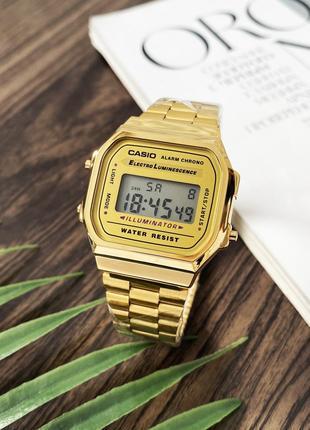 Часы Casio Illuminator F-91W Gold New