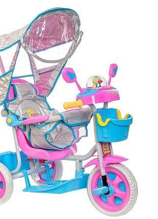 Новый детский трехколесный велосипед с родительской ручкой