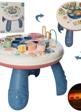 Музичний ігровий розвиваючий столик 648 A-60, світло, музика