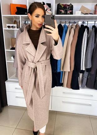 Женское длинное пальто весна осень демисезон