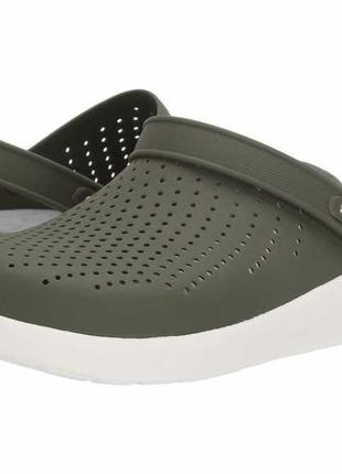 Мужские крокс crocs literide clog зеленые хаки. оригинал