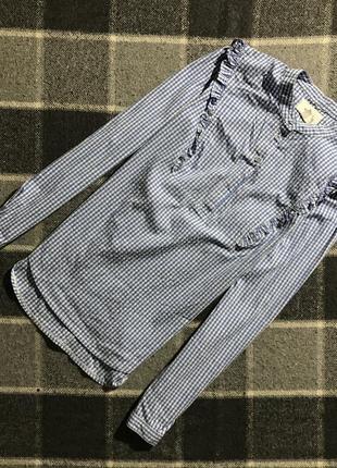 Женская рубашка в клетку soft grey ( софт грей мрр оригинал бе...