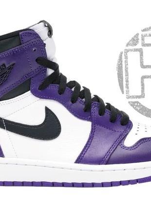 Женские кроссовки air jordan 1 retro high court purple white 5...
