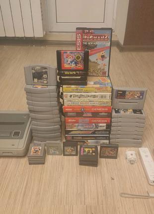Super Nintendo, Wii, Sega, GameBoy, GameGear