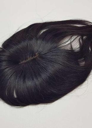 Накладка на волосы, из натуральных волос, парик, брюнетка, в у...