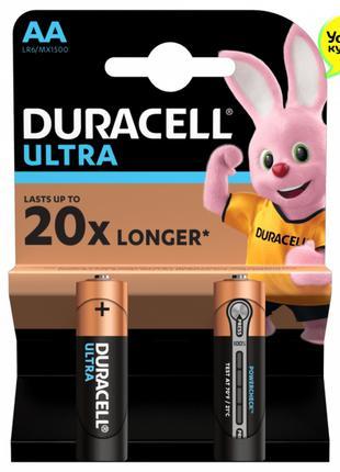 Батарейки Duracell Ultra MN1500 AA (LR6, 316) 2 шт. Бельгия