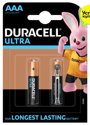 Батарейки Duracell Ultra MN2400 AAA (LR03, 286) 2 шт. Бельгия