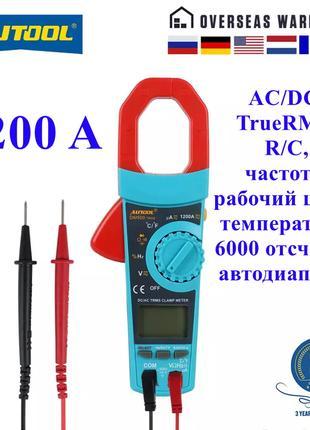Автомобильные токовые клещи мультиметр AUTOOL DM500, AC/DC 1200A