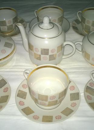 Чайные Сервизы Лучших Фарфоровых заводов (на 6 персон)