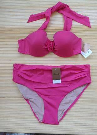 Купальник Chantelle розовый бандо халтер высокие плавки чашка 80b