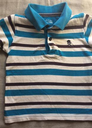 Полосатая футболка поло children's place
