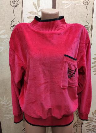 Велюровый свитер, свитшот оверсайз