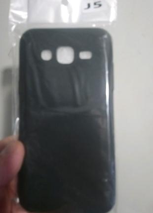 Чехол-бампер силиконовый чёрный Samsung j500/j5