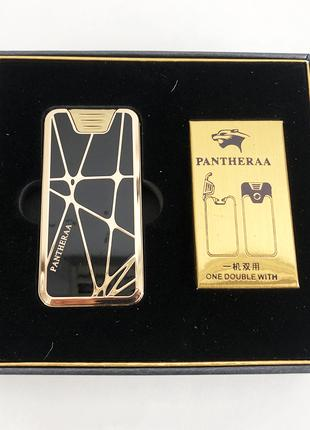 Электроимпульсная USB зажигалка Pantheraa XT-4868 в подарочной уп