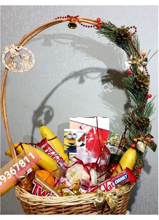 Подарок Декоративание Корзинки Сани Букет с конфет