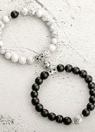 Парные браслеты на магнитах для влюбленных ко дню влюбленных