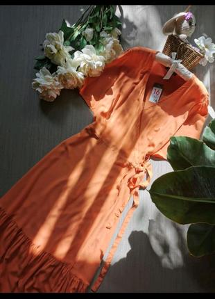 Вискозное платье на запах Primark