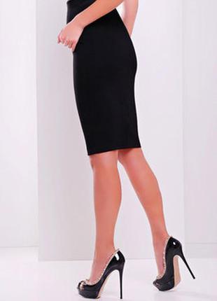Черная юбка карандаш стрейч topshop