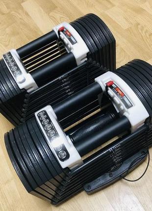 """Гантели наборные """"Titan Block"""" блочные 2 штуки по 22 кг, комплект"""