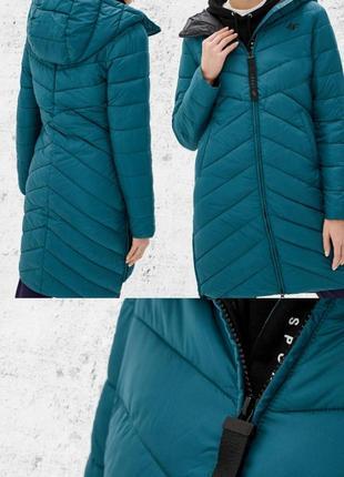 4f женский длинный демисезонный пуховик. длинная куртка.