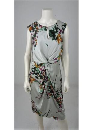Невероятное струящиеся платье , принт акварельные краски laura...