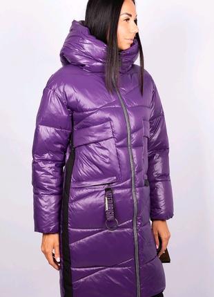 Эффектная зимняя женская куртка пальто ТМ Lims на р с-м