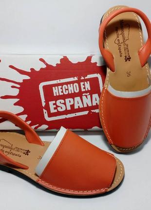 Испанские кожаные менорки абаркасы торговой марки Menorguina