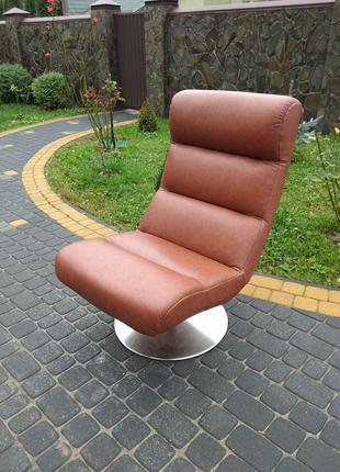 Кресло кожаное для отдыха, шкіряне відпочинкове крісло релакс