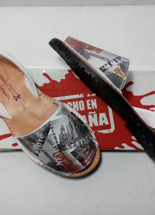 Оригинал. Испанские кожаные Mенорки, Абаркасы. ТМ Menorguina