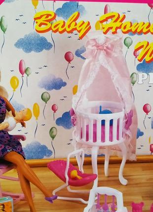 Кукольная мебель 9929 детская комната