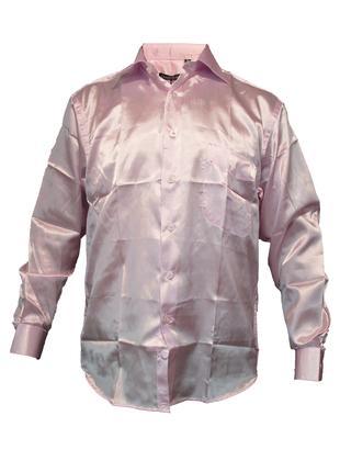 Рубашка/сорочка рожева cerruti - 100% шовк. нюанс!