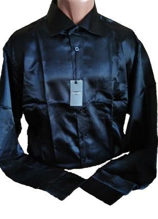 Рубашка чорна cerruti 1881 - 100% шовк