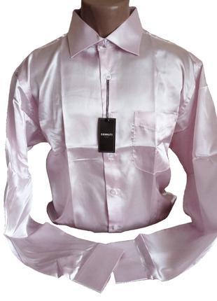 Сорочка/рубашка рожева cerrutti - 100% шовк (silk)