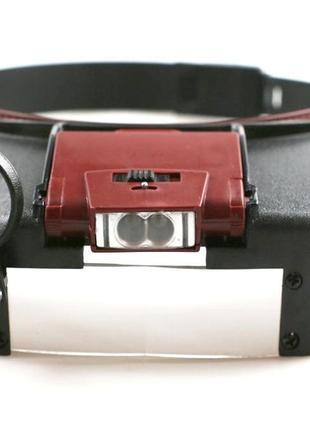 Бинокулярная лупа налобная козырек с подсветкой
