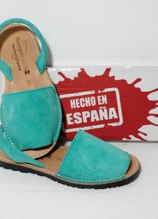 Оригинал. Испанские замшевые Mенорки, Абаркасы ТМ Menorguina