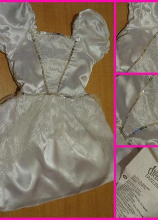 Новогодний костюм - платье снежинки 3-6 лет новоічний новоріна...