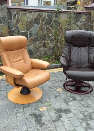 Кресло кожаное Relax, реклайнер, для руководителя, офисное, стул