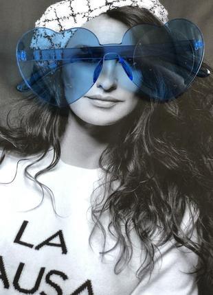 Солнцезащитные синие стильные очки