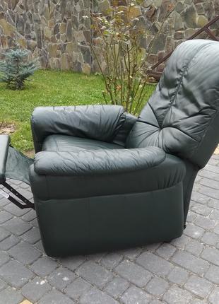 Кресло реклайнер кожа, шкіряне крісло релакс, відпочинкове