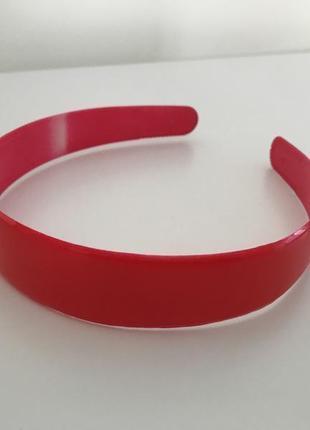 Обруч на голову, красный обруч, пластмассовый обруч.