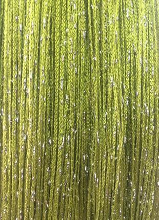 Оливковые шторы-нити дождь