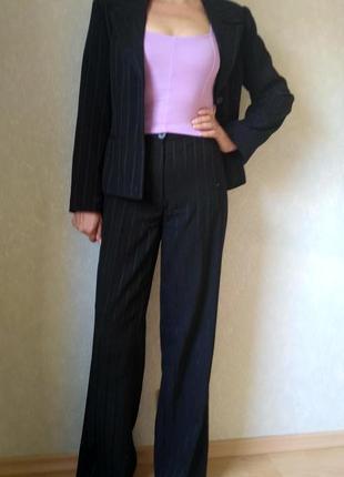 Классический брючный костюм Lilit Collection черный шерстяной,...