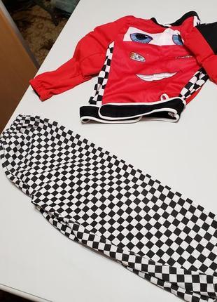 Новогодний карнавальный костюм тачки, гонщик на 4-6 лет h&m